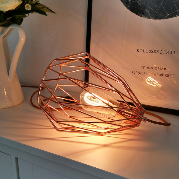 "Tischlampe ""Copper Cage"""